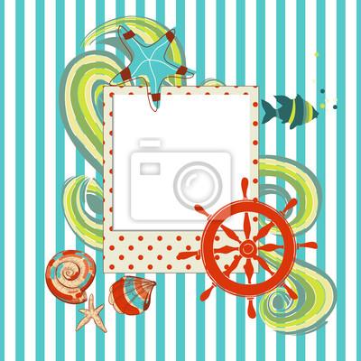 Плакат Морские записки с фоторамки