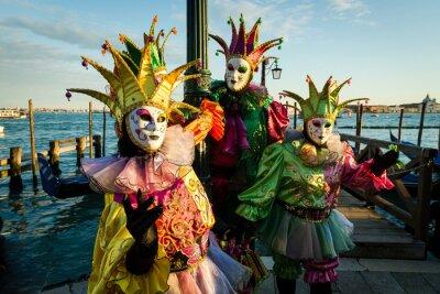 Плакат Maschera карнавал ди Венеция