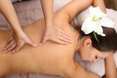 Плакат Массажист делает массаж