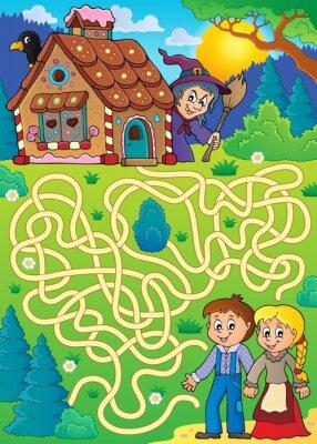 Плакат Лабиринт 30 с темой Гензеля и Гретеля