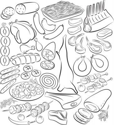 Плакат Мясо