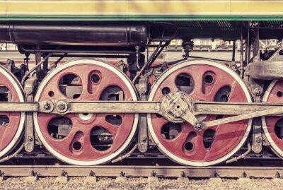 Плакат Механическая часть и колеса паровоза.