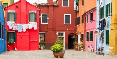 Плакат Средиземноморской архитектуры в Бурано, Италия