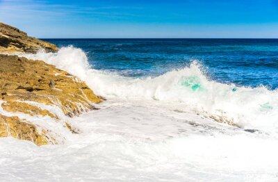 Плакат Морская вода волны пена Rock Surf