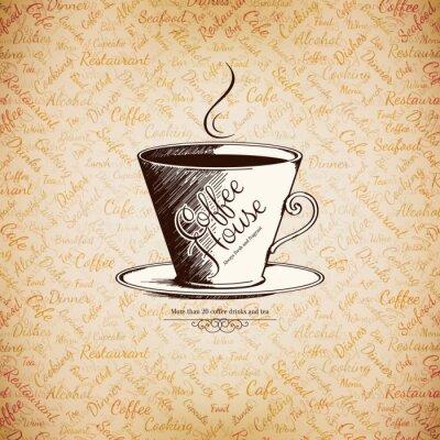 Плакат Меню для ресторана, кафе, бар, кофейня