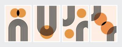 Плакат Mid century abstract contemporary aesthetic design  set with geometric balance shapes, modern minimalist artprint.