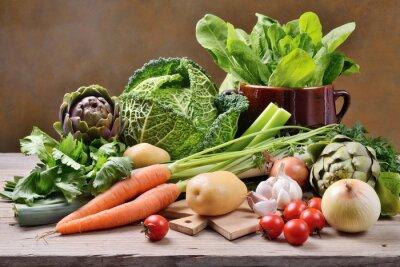 Плакат Перемешанные овощи
