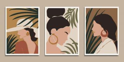 Плакат Modern art prints in boho style. Eps10 vector.