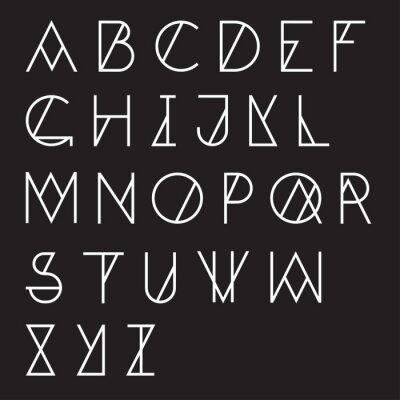 Плакат Современный геометрический алфавит