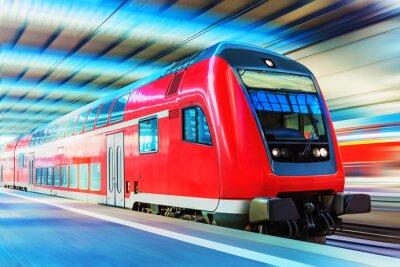 Плакат Modern high speed train