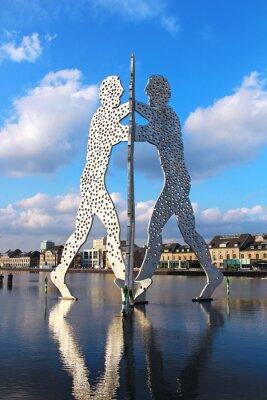 Плакат Molecule Man sculpture on the Spree river in Berlin