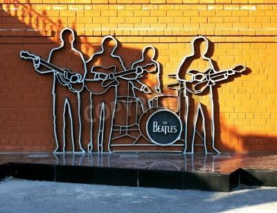 Плакат Памятник The Beatles в Екатеринбурге, Россия
