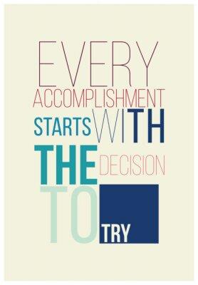 Плакат Motivational poster for a good begining