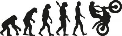 Плакат эволюция мотокроссу