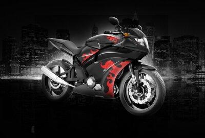 Плакат Мотоцикл Мотоцикл Велосипед езда Райдер Современная концепция