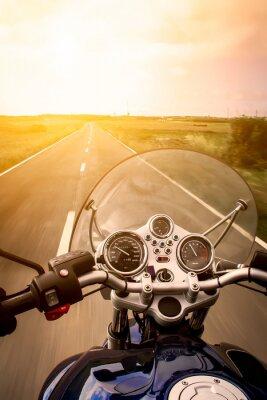 Плакат Вид мотоциклист