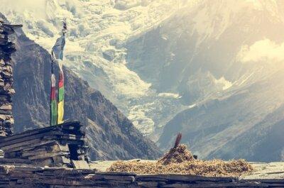 Плакат Вид на горы, Annapurnas в Непале.