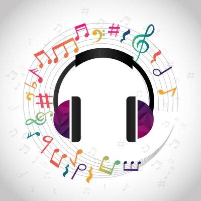 Плакат Музыка и звуковое оформление