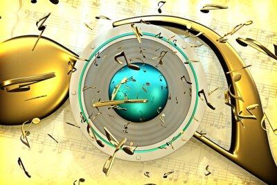 Плакат музыкальная концепция