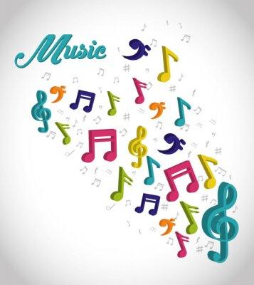 Плакат Музыка цифрового дизайна.