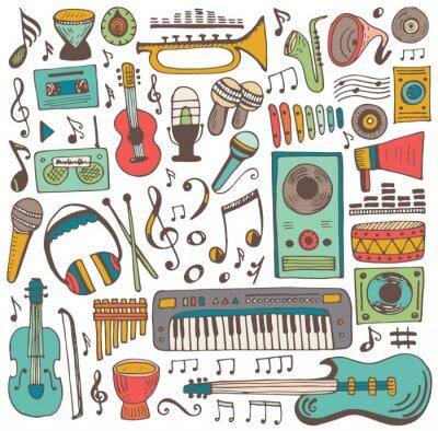 Плакат Музыкальная коллекция каракули