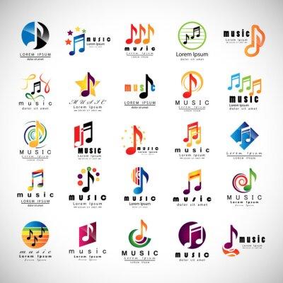 Плакат Музыка иконки - изолированных на сером фоне