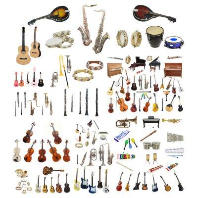 Плакат музыкальные инструменты