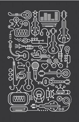 Плакат Музыкальный магазин Art Line