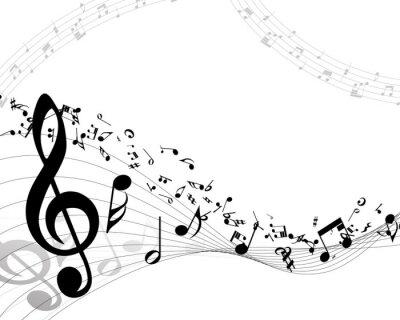 Плакат Музыкальный фон