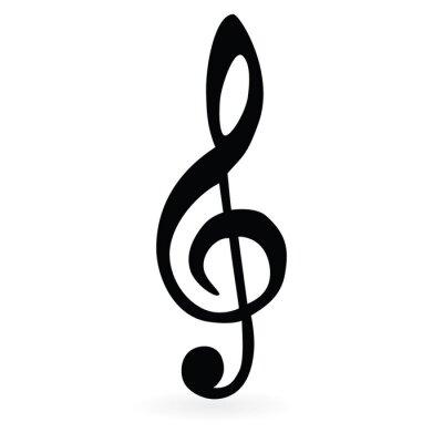 Плакат Музыкальный ключ. Растр