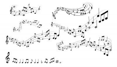 Плакат музыкальные ноты