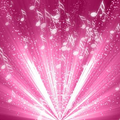 Плакат Музыкальные ноты на фоне