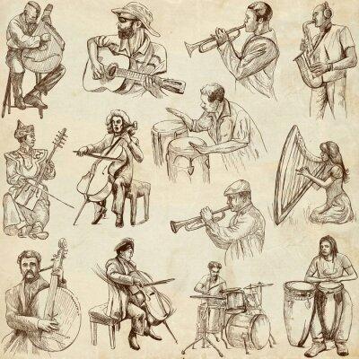 Плакат Музыканты и музыки по всему миру (не устанавливал 2, бумагу)