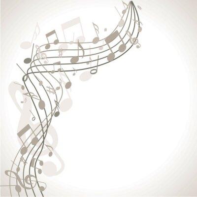 Плакат musischer Hintergrund мит Noten