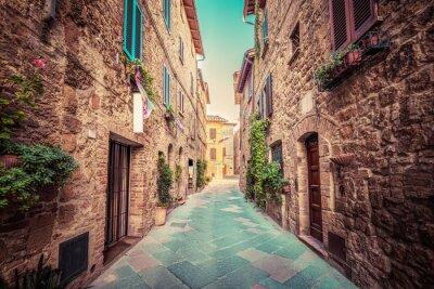 Плакат Тоскана, Италия. марочный