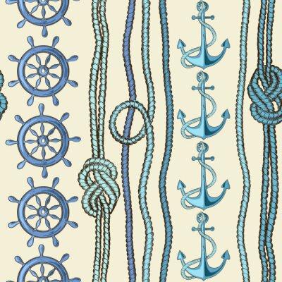 Плакат Морской бесшовный фон