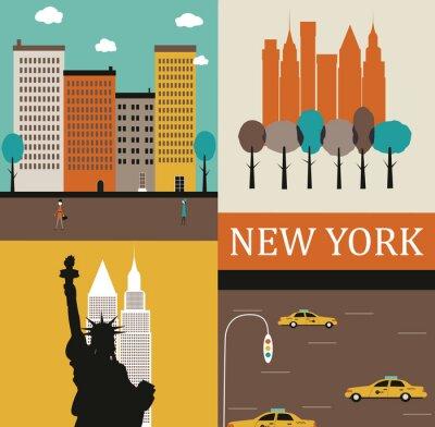 Плакат Нью-Йорк.