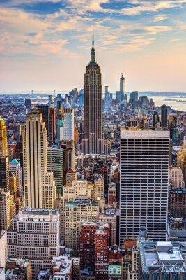 Плакат Нью-Йорк в сумерках