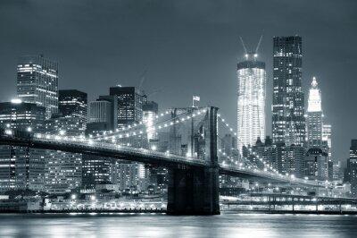 Плакат Нью-Йорк Бруклинский мост