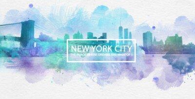 Плакат Нью-Йорк, где мечты сделаны открытку