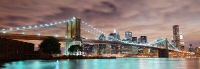 Плакат Нью-Йорк панорама
