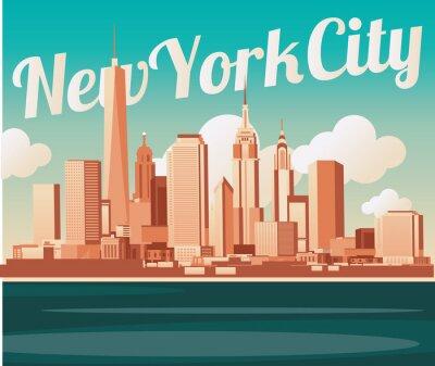 Плакат Нью-Йорк горизонты