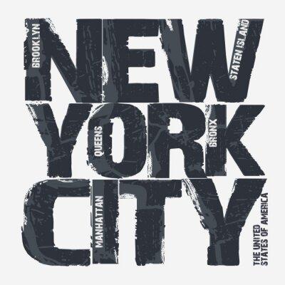 Плакат дизайн Нью-Йорк типографика