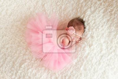 Плакат Девушка новорожденный носить розовые Туту