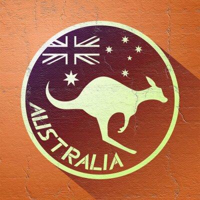 Плакат красивый значок Австралии