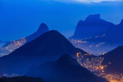 Плакат Ночной вид на Рио-де-Жанейро