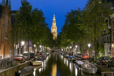 Плакат Ночной вид на Zuiderkerk в Амстердаме
