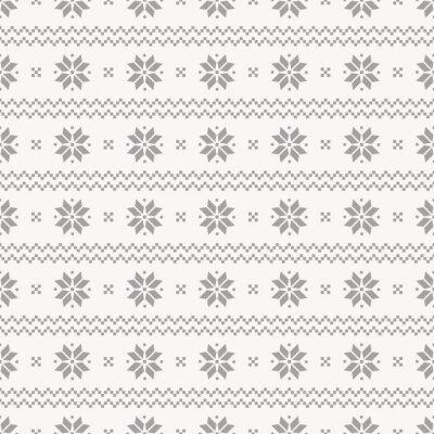 Плакат Норвежский бесшовные модели. Векторный набор.