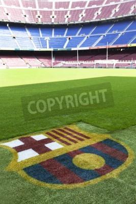 Плакат Камп Ноу - ФК Барселона на стадионе подробно