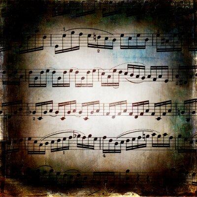 Плакат Од музыкальная ткань гранж